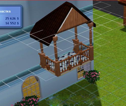 Как в симсе 3 сделать балкон 928