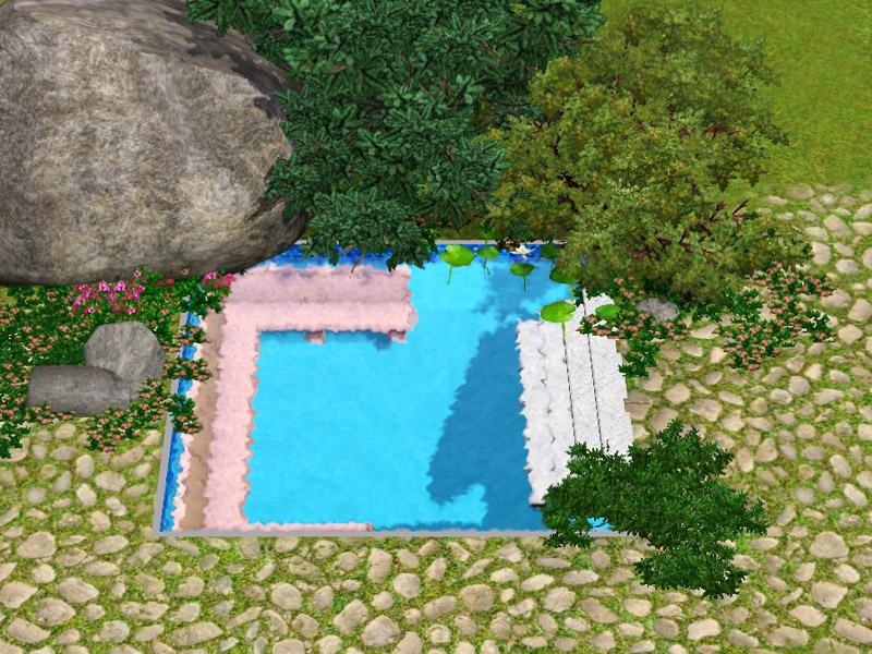 Как создать круглый бассейн в симс 3